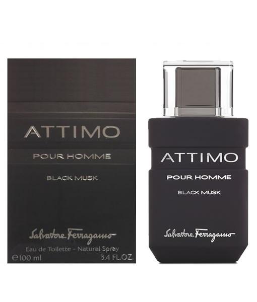 Salvatore Ferragamo Attimo Black Musk Pour Homme Eau De Toilette 100 ml