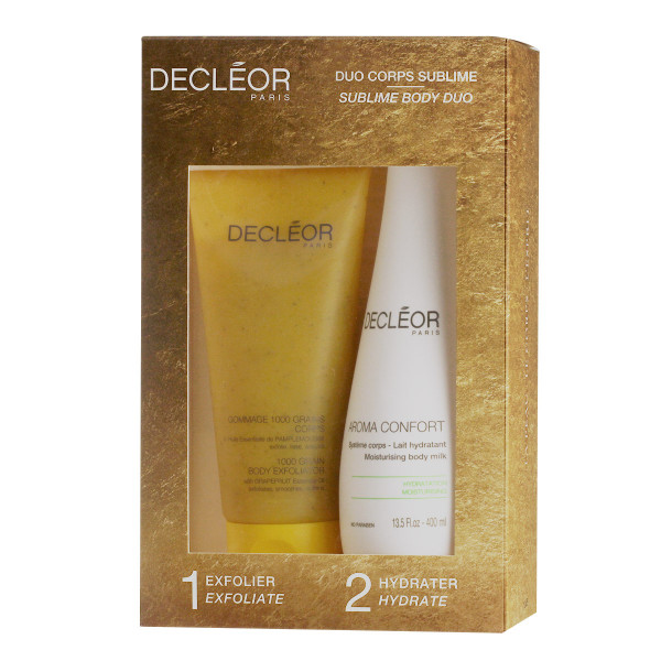 Decléor Aroma Confort Moisturising Body Milk 400 ml + 1000 Grain Body Exfoliator 200 ml