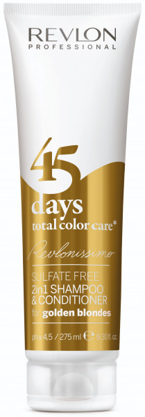 Revlon Revlonissimo 45 Days Total Color Care 2in1 Shampoo & Conditioner For Golden Blondes 275 ml