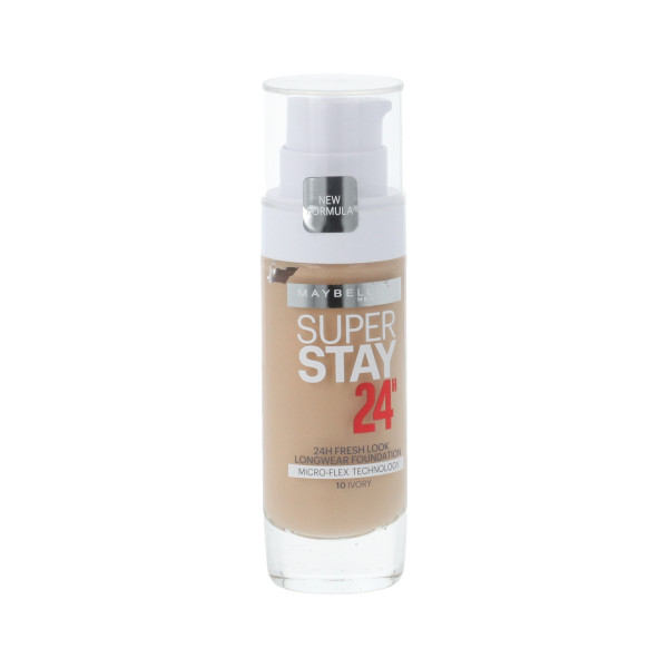 Maybelline SuperStay 24H Foundation SPF 19 (10 Ivory) 30 ml