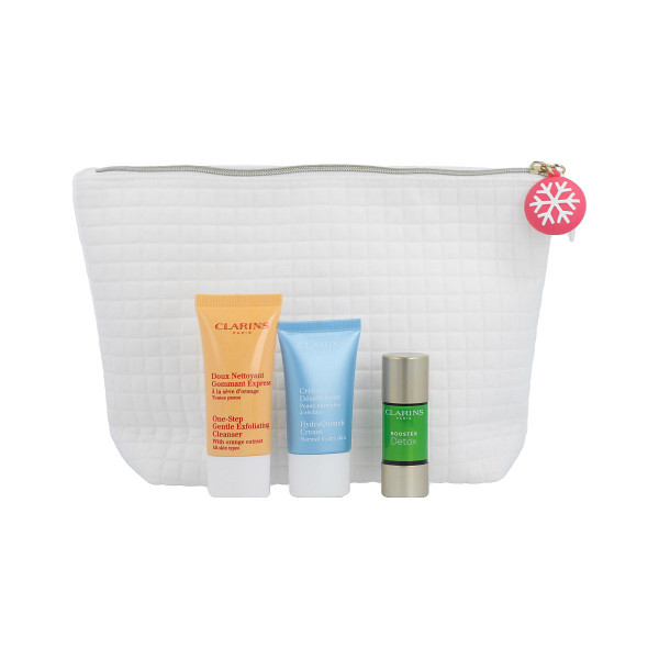 Clarins Party Season Booster Set Booster Detox 15 ml+Cleanser 30 ml+Hydra Cream 15 ml+Beauty Bag